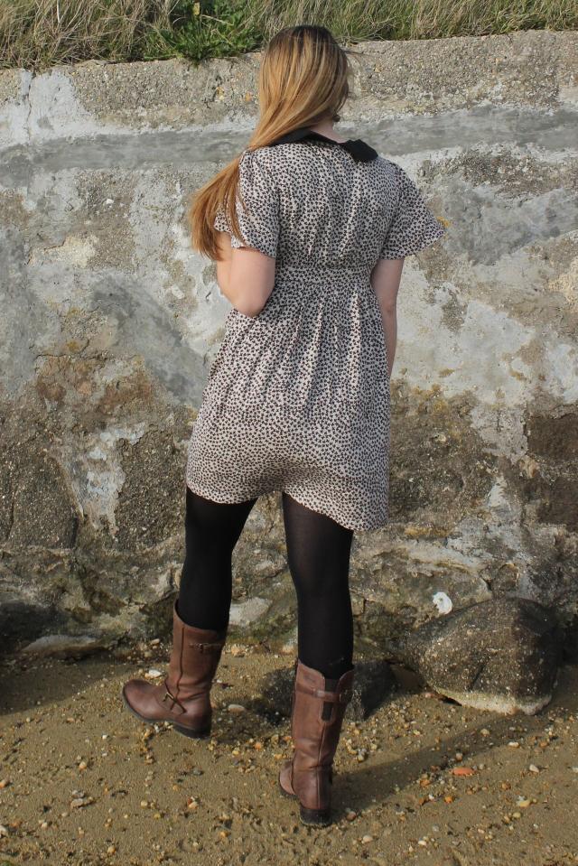 robe à col banabeach de dos