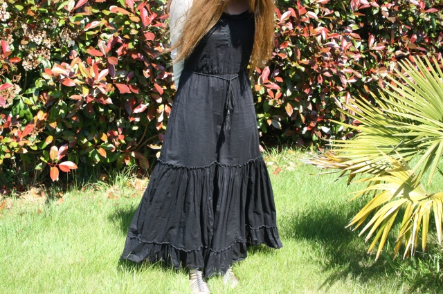 Robe longue ddp Bleupaillette blog mode