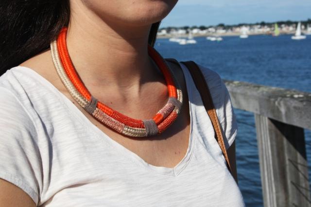 colier cordage corail promod