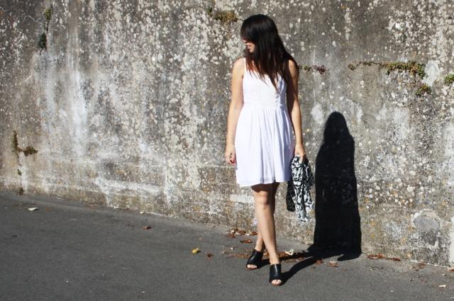 robe blanche dentelle blog mode