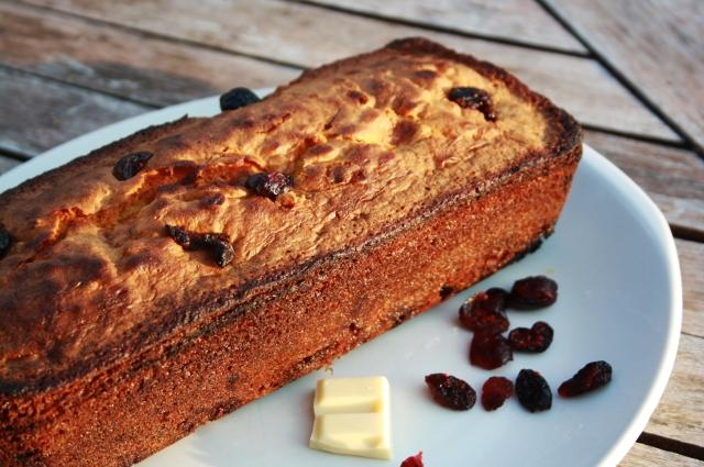 cake chocolat blanc cranbeerries