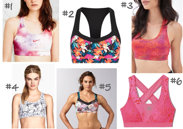 selection shopping brassière de sport
