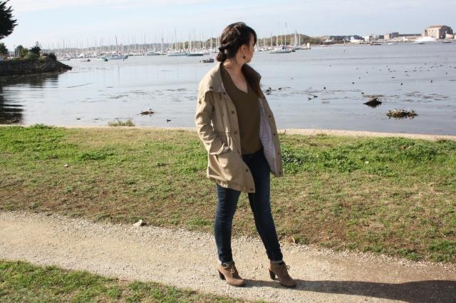 look kaki parka blog mode couleur hiver